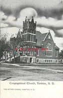 274579-South Dakota, Yankton, Congregational Church, Withee Studio - Etats-Unis