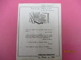 Théâtre Hébertot/ Le Théâtre De L'Elite/L'Annonce Faite à Marie/ Paul Claudel /alain CUNY/ 1948   PROG214 - Programmes