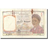 Billet, FRENCH INDO-CHINA, 1 Piastre, Undated (1932-1939), KM:54c, TB - Indochine