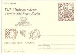 Poland 1980  Chess, Bydgoszczy, Preprinted Card, Unused - 1944-.... Republic