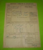 Chemins De Fer PLM,griffe Linéaire Gare De TAIN PLM; Titre De Transport En Petite Vitesse Pour Loriol - Titres De Transport