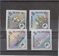 V2 - ASCENSION 456 / 459 ** ( MNH ) De 1988 - Bateaux - Les Différents H.M.S. RESOLUTION. - Ascension (Ile De L')
