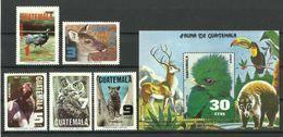 GUATEMALA  1979   ANIMALS,BIRDS SET & MS  MNH - Non Classés