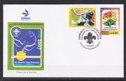 BOLIVIA - 2007 SCOUTS  ASSOCIATION SET OF 2 ON ILLUSTRATED FDC, SELDOM OFFERED ITEM - Bolivia
