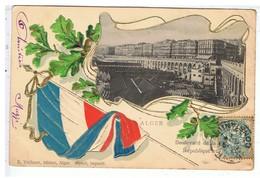 CPA-1904-ALGER-BOULEVARD DE LA REPUBLIQUE-DRAPEAU FRANCAIS EN RELIEF- - Algerien