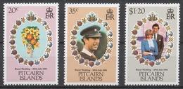 Pitcairn Islands 1981 Mi# 209-11** ROYAL WEDDING - Timbres