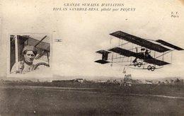 Grande Semaine D'Aviation  - Biplan Sanbhez-Besa, Piloté Par Péquet   -  CPA - ....-1914: Vorläufer