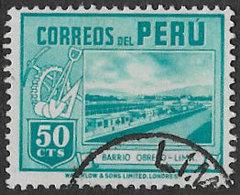 Peru SG645 1938 Definitive 50c Good/fine Used [38/31432/4D] - Peru