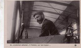 Locomotion Aérienne  -  Henri Farman Sur Son Biplan   -  CPA - Flieger