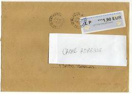 2015- Lettre  Avec Vignette  L.P  1.90€ --cachet Rond - St MATHURIN - 85  --format  C4 - Marcophilie (Lettres)
