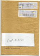 2015- Lettre Suivie Vignette  L.P  3.15€ --cachet Rectangle - MONTAIGU  - 85  --format  A 4 - 1961-....