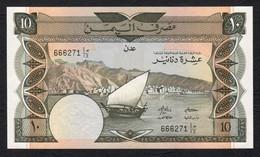 YEMEN  : 10 Dinars  - P10b -  UNC - Yémen