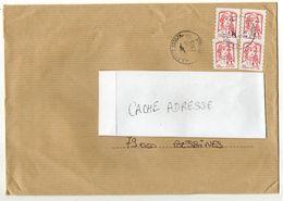 2015- Lettre  L.P Avec 4 X Timbres Adhésifs Marianne Ciappa-Kavena  Cachet Rond LA POSTE 39057A --format  C 4 - Marcophilie (Lettres)