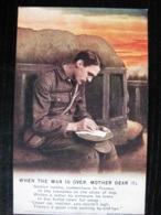 """""""When The War Is Over Mother Dear"""" - 3 Song Cards - Bamforth - Guerra 1939-45"""