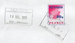 2015-Entier Lettre Suivie 50g Avec Cachet Rectangle  L'HEBERGEMENT - 85 -format C 4 - 1961-....