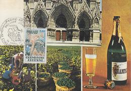Carte  Maximum  1er  Jour   FRANCE     Région  :   CHAMPAGNE  ARDENNES     CHALONS  SUR  MARNE    1977 - Cartes-Maximum
