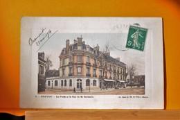 Chatou -  La Poste Et La Rue De St Germain - Chatou
