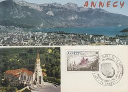 Carte  Maximum  1er  Jour    FRANCE   Congrés  Sociétés  Philatéliques    ANNECY   1977 - Cartes-Maximum