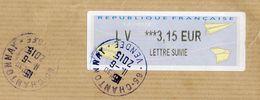 2015-- Lettre Suivie Vignette  3.15€  -- Cachet Ronds  CHANTONNAY-85 - Enveloppe  C4 - Marcophilie (Lettres)