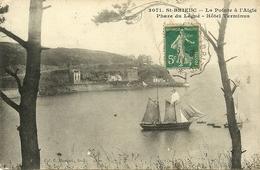 SAINT-BRIEUC  - La Pointe à L'Aigle, Phare Du Légué, Hôtel Terminus                              -- Hamonic 3071 - Saint-Brieuc
