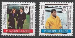 Pitcairn Islands 1986 Mi# 283-84** WEDDING OF PRINCE ANDREW AND SARAH FERGUSON - Timbres