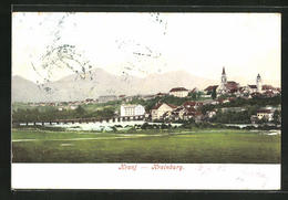 AK Kranj, Blick über Den Ort Mit Kirche - Slowenien