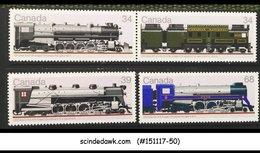 CANADA - 1986 RAILWAY LOCOMOTIVES / RAILROADS / TRAINS 4V - MNH - 1952-.... Reign Of Elizabeth II