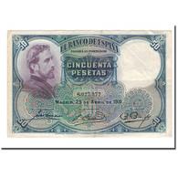 Billet, Espagne, 50 Pesetas, 1931, 1931-04-25, KM:82, TB+ - [ 2] 1931-1936 : Republic