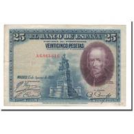 Billet, Espagne, 25 Pesetas, 1928, 1928-08-15, KM:74a, TB - [ 1] …-1931 : Premiers Billets (Banco De España)