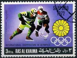 RAS AL-KHAIMA 1969 - Mi. 314 O, Ice Hockey | Sapporo 1972. - Ra's Al-Chaima