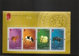 HONG KONG CHINA Souvenir Sheet YEAR OF OX MNH Scott 1346b 2009 - 1997-... Chinese Admnistrative Region