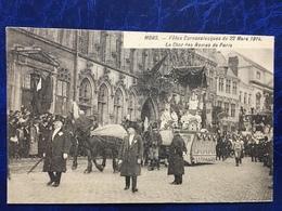 Mons/-les Fêtes Carnevalesques Du 22 Mars 1914-lot De 8 Cpa-animée - Mons