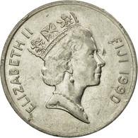 Monnaie, Fiji, Elizabeth II, 20 Cents, 1990, TTB, Nickel Plated Steel, KM:53a - Fiji