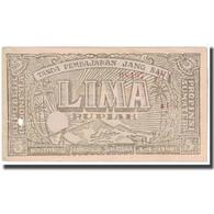 Billet, Indonésie, 5 Rupiah, 1948, 1948-04-01, KM:S192c, TB - Indonésie