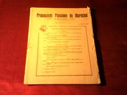 PROPAGANDE PAYSANE  DU MARECHAL LE 31 MARS 1943 - Decretos & Leyes