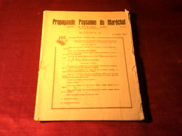 PROPAGANDE PAYSANE  DU MARECHAL LE 31 MARS 1943 - Wetten & Decreten