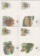 World Wide Fund For Nature 1983 Belize Jaguar,Set 4 Official First Day Covers - FDC