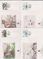 World Wide Fund For Nature 1993 Finland Foxr,Set 4 Official First Day Covers - FDC