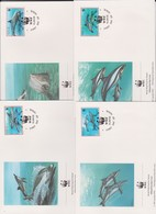 World Wide Fund For Nature 1993 Niue Dolphins,Set 4 Official First Day Covers - FDC