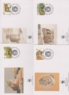 World Wide Fund For Nature 1993 Russia Tiger,Set 4 Official First Day Covers - FDC