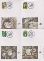 World Wide Fund For Nature 1994 Latvia Dormouse ,Set 4 Official First Day Covers - FDC