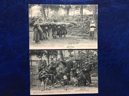 Camp De Beverloo/-la Dernière Cartouche Et Le Fusillé-animée-1906 - Leopoldsburg (Camp De Beverloo)