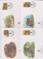 World Wide Fund For Nature 1995 Belarus  Beaver,Set 4 Official First Day Covers - FDC