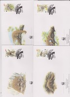 World Wide Fund For Nature 1995 Macau Pangolin,Set 4 Official First Day Covers - FDC