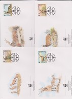 World Wide Fund For Nature 1995 Uzbekistan Markhor,Set 4 Official First Day Covers - FDC