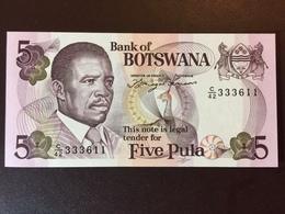 BOSTWANA P8D 5 PULA 1982 UNC - Botswana