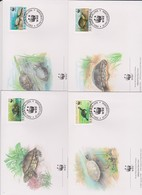 World Wide Fund For Nature 1996 Slovenia Tortoise ,Set 4 Official First Day Covers - FDC