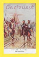 Guerre 1914 Illustrateur Lalauze Hommage Aux Anciens (  Poilus , Moulin A Vent ) - Guerre 1914-18