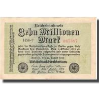 Billet, Allemagne, 10 Millionen Mark, 1923, 1923-08-22, KM:106a, SUP - [ 3] 1918-1933: Weimarrepubliek