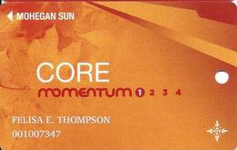 Mohegan Sun Casino - Uncasville, CT USA - Core Momentum Slot Card - 1.888.789.7777 & 1.888.777.2464 Phone#s - Casino Cards